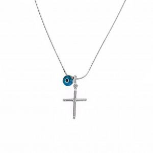 Silver 925 Cross necklace in AJ Silver Color (KA0063)