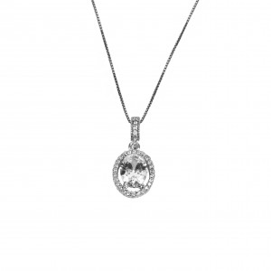 Silver 925 Women's Coil platinum plated in Silver Color with Zircon Stones AJ (KA0080)