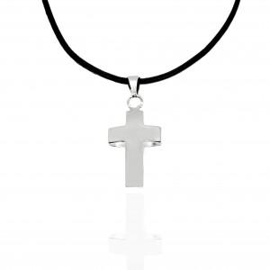 Sterling Silver 925 Unisex Cross in Silver AJ (KA0083A)