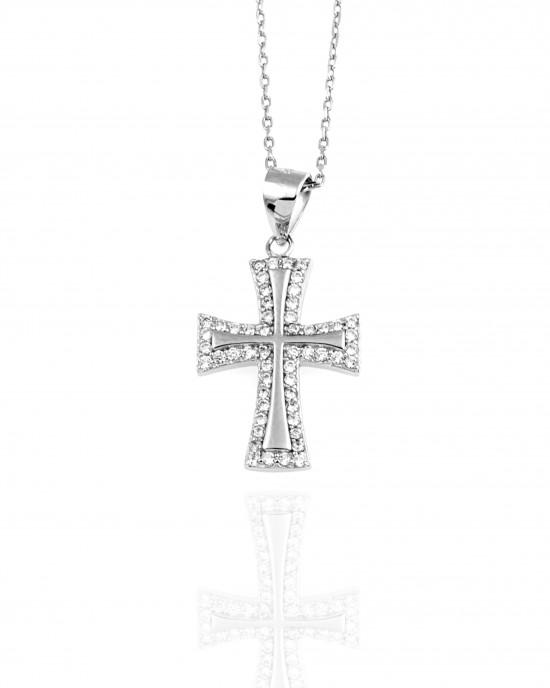 Sterling Silver 925- Women's Cross in Silver AJ (KA0087)