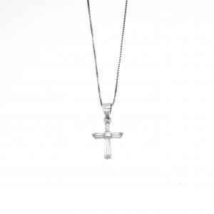 Silver Cross 925 with Stones in Silver AJ (KA0131A)