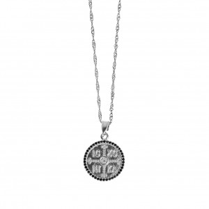 Sterling Silver 925-Double Sided Constantine in Silver AJ (KA0097A)