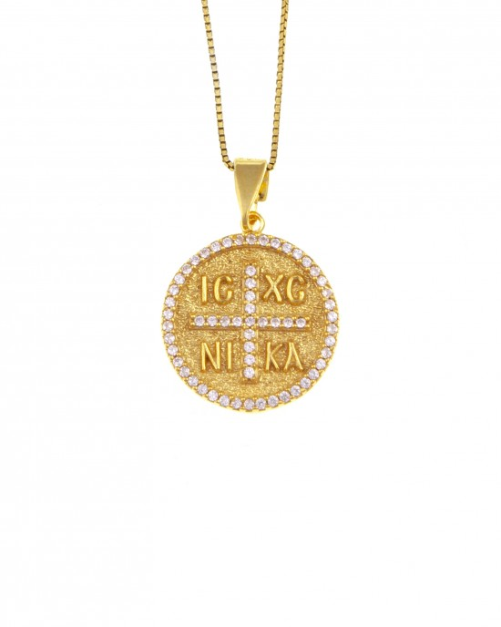 Silver 925 Necklace-Constantine in Yellow Gold AJ (KA0102X)