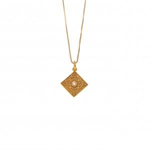 Necklace Women Silver 925-Byzantine in Yellow Gold AJ (KA0103X)