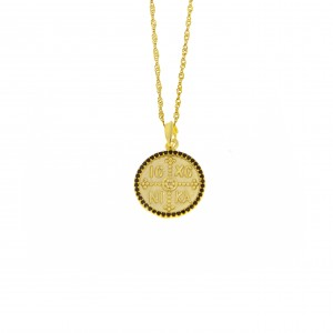 Silver 925-Constantine Necklace in Yellow Gold AJ (KA0104X)
