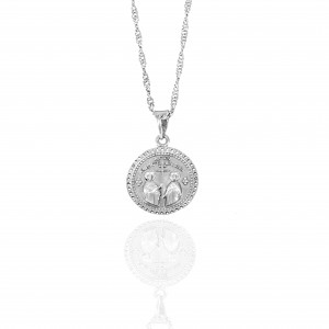 Sterling Silver 925-Constantine Necklace with Stones in Silver AJ(KA0109A)