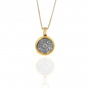 Sterling Silver 925-Constantine Necklace with Silver AJ(KA0110A)