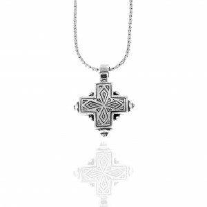 Women's Cross from Silver 925 with Stone in Silver Color AJ (KA0114A)