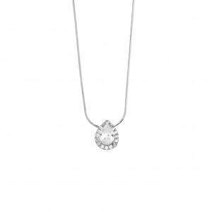 Silver necklace 925 Single stone AJ (KA0124A)