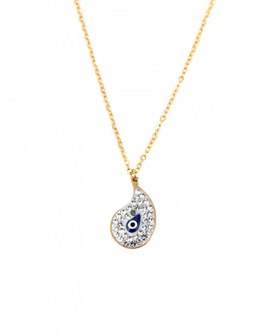 Stainless Steel Women's Necklace in Gold Color AJ(KK0036X)