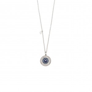 Women's Necklace with Stainless Steel and Stress Silver  AJ(KK0039A)