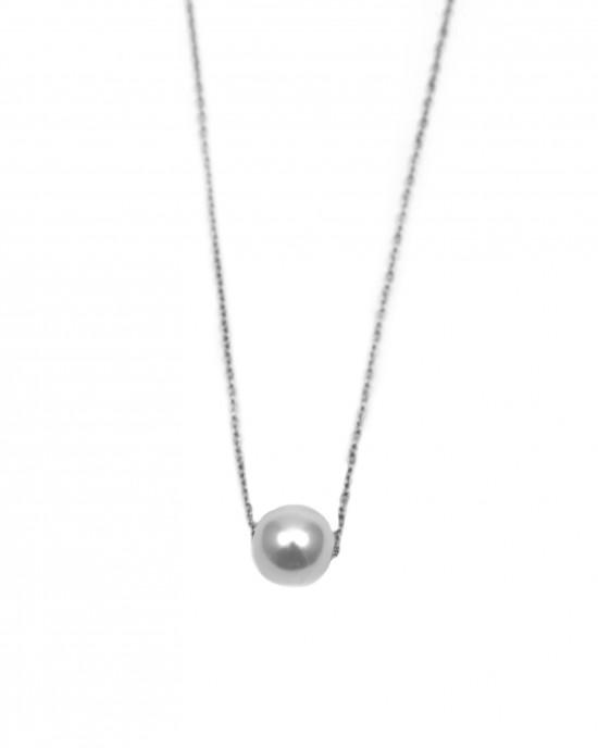 Women's Necklace with Pearl Steel AJ KK0047