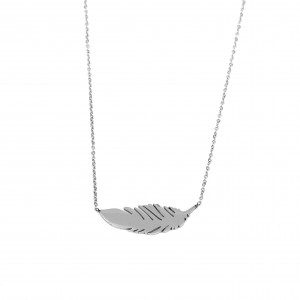 Women's Necklace Felt Steel Necklace In Silver AJ Color (KK0059A)