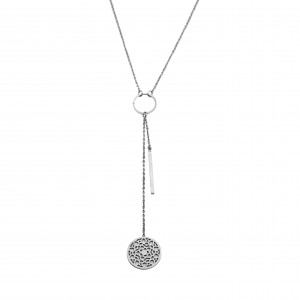 Women's Necklace from Surgical Steel in Silver Color AJ (KK0060A)
