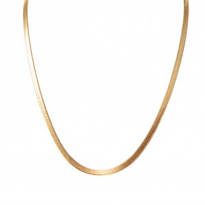 Women's necklace made of steel in color Yellow Gold AJ (KK0063X)