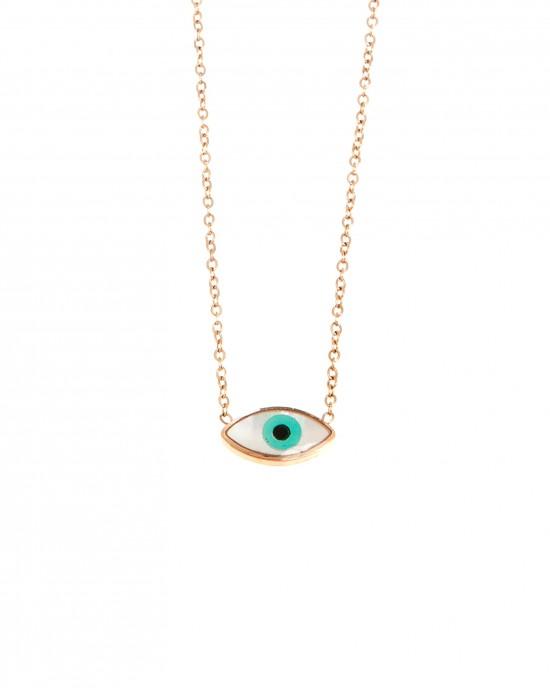 Eye Steel Necklace in Pink Gold AJ (KK0109RX)