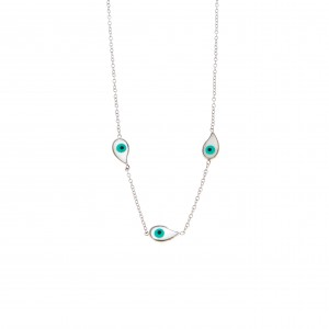 Eye Steel Necklace with Silver AJ Silver (KK0110A)