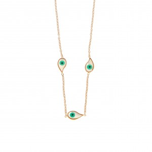 Alder Necklace with Studs made of Steel in Rose Gold AJ (KK0119RX)