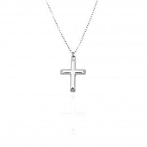 Women's Cross from Stainless Steel in Silver AJ (KK0123A)