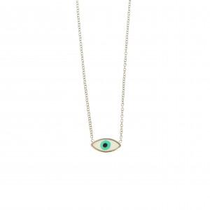 Stainless Steel Eye Necklace in Silver AJ (KK0124A)