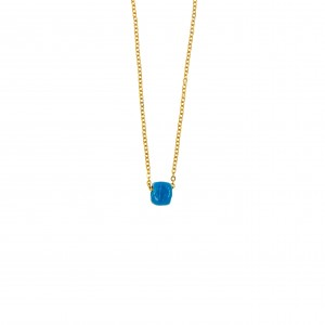 Necklace with Stainless Steel Stone in Yellow Gold AJ (KK0129X)