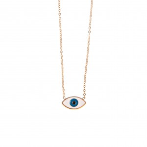 Necklace-Eye from Steel in Pink Gold AJ (KK0132RX)