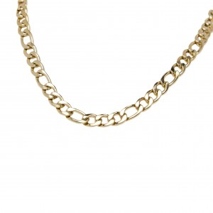 Stainless Steel Necklace in Yellow Gold AJ (KK0133X)