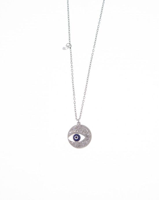 Women's Crescent Necklace from Steel to Silver AJ (KK0153A)