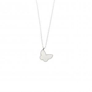 Butterfly Necklace from Steel in Silver AJ (KK0155A)