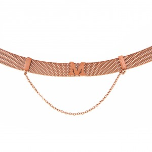 Women's Necklace in Steel in Pink Gold AJ (KK0166RX)