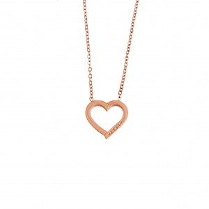 Heart Necklace in Steel in Rose Gold AJ (KK0184RX)