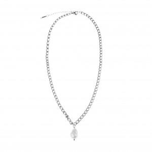 Women's Necklace with Pearl Steel in Silver AJ (KK0209A)