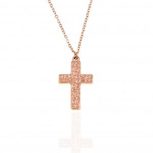 Women's Steel Cross in Rose Gold AJ (KK0211RX)