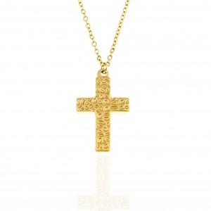Women's Cross from Steel to Yellow Gold AJ (KK0212X)