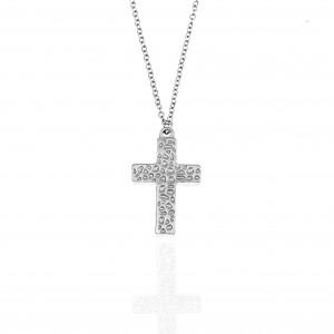 Women's Cross from Steel to Silver AJ (KK0213A)