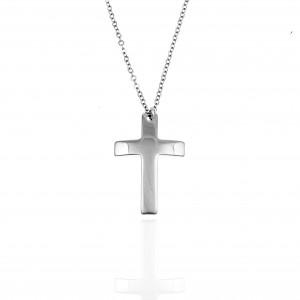 Women's Cross from Steel to Silver AJ (KK0216A)