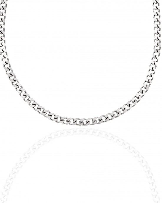Stainless Steel Necklace in Silver AJ (KK0220A)