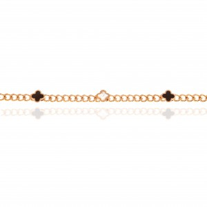 Necklace-Cross with Steel Stones in Rose Gold AJ (KK0248RX)