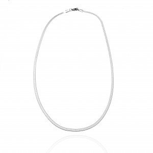 Steel Snake Necklace Chain in Silver Color AJ (KK0274A)