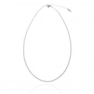 Riviera Necklace-Women in Steel in Silver AJ (KK0279A)