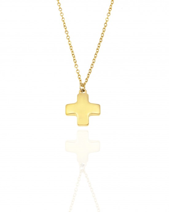 Necklace-Cross made of Steel in Color AJ (KK0291X)