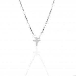 Women's Cross from Steel to Silver AJ (KK0292A)