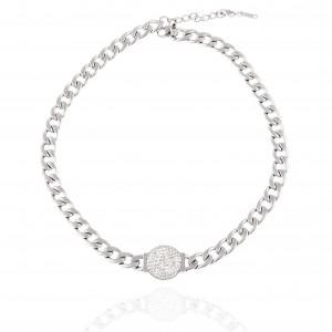 Necklace - Women's Steel Stone (KK0295A)