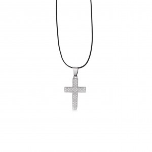 Men's Steel Cross in Silver AJ (KKA0091A)