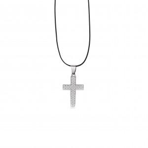 Men's Steel Cross in Silver AJ (KKA0091A)