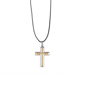 Men's Cross from Stainless Steel Two Color AJ (KKA0096AX)