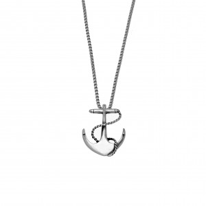 Men's Steel Necklace-Silver in Silver AJ (KKA0099A)