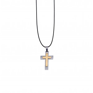 Men's Bicolor Cross from Steel AJ (KKA0100A)