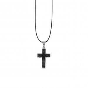 Men's Steel Cross in Silver AJ (KKA0102A)