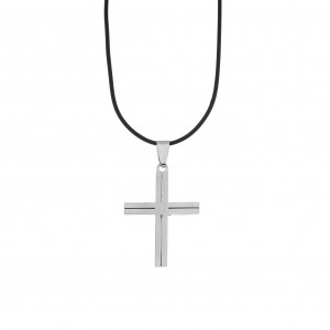 Men's Cross from Steel in Silver Color AJ (KKA0104A)